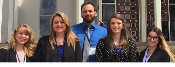 From left to right: Amy Thomas, Rachel Drummond, Dr. Joseph Fitsanakis, Sarah Harvey, Diana Evans