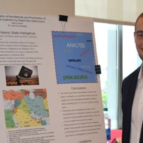 CIB alum wins research award at national intelligenceconference
